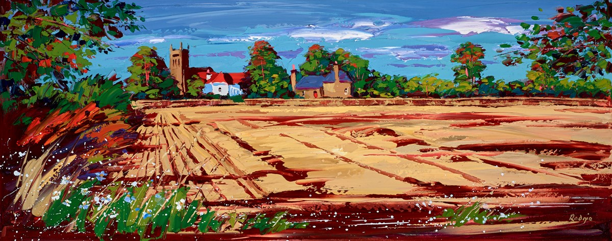 Church Spire and Shadows, Bolton by Lynn Rodgie -  sized 40x16 inches. Available from Whitewall Galleries